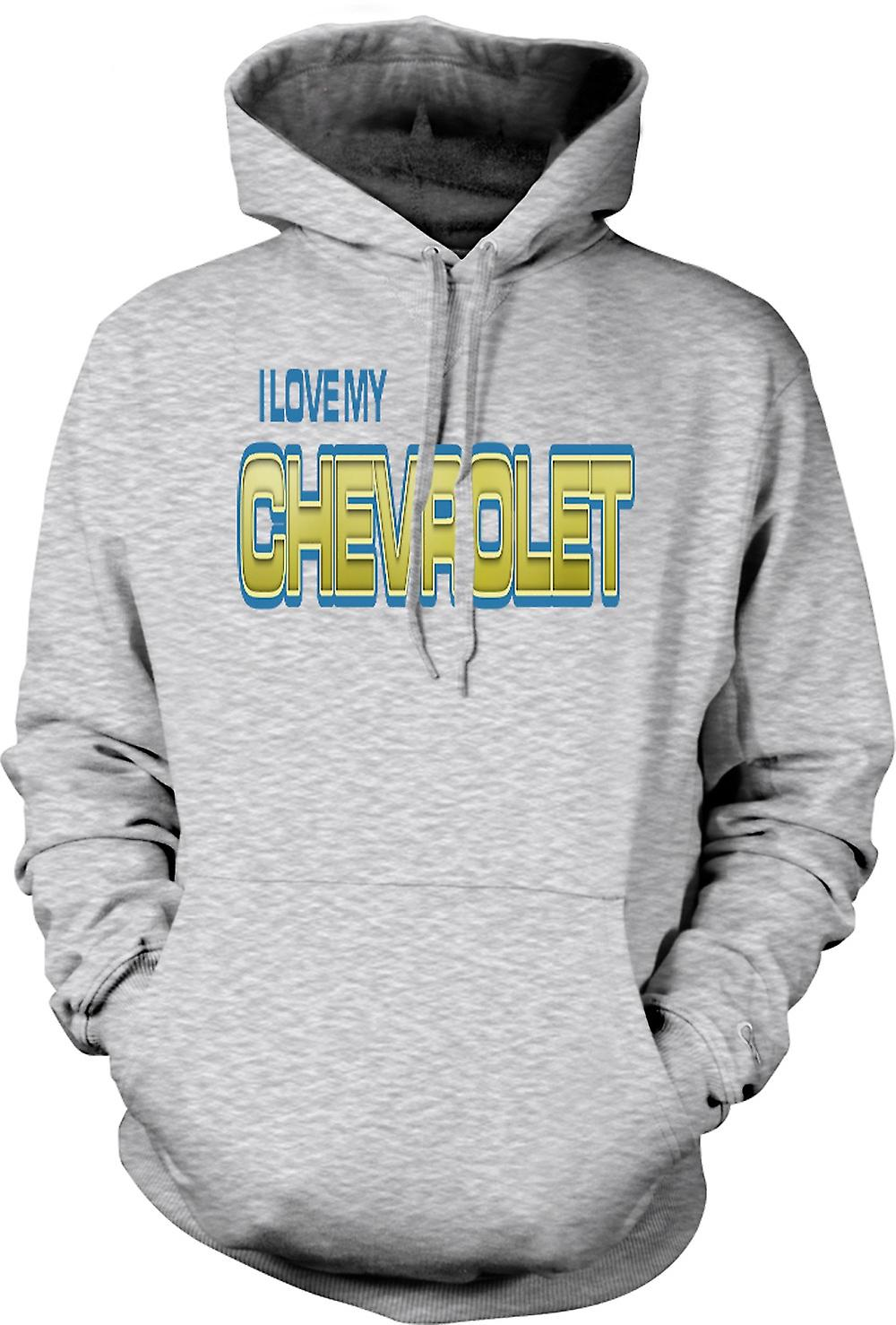 Mens Hoodie - I Love My Chevrolet - Car Enthusiast