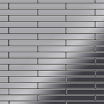 Mosaico de metal sólido Acero inoxidable ALLOY Avenue-S-S-M