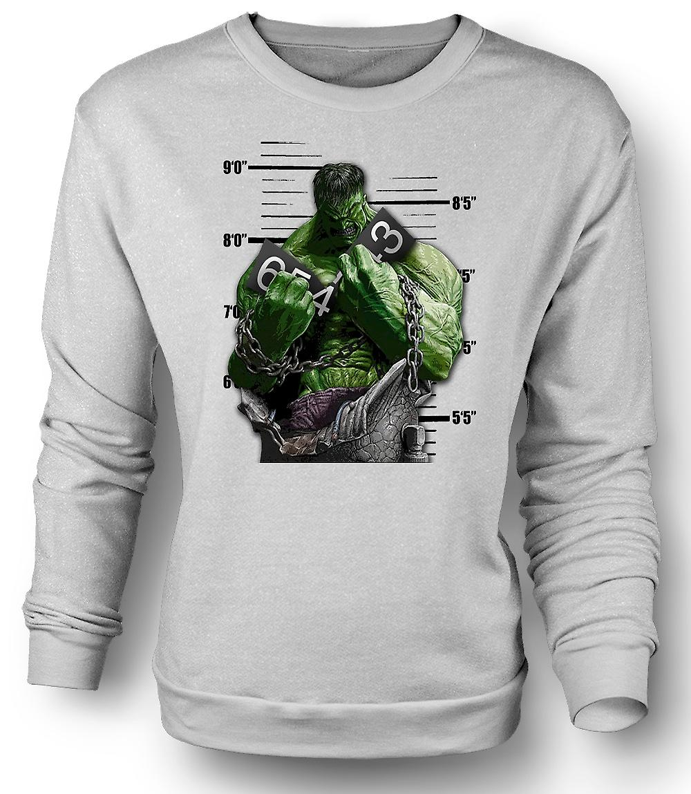 Heren Sweatshirt de Hulk - Cartoon - kettingen
