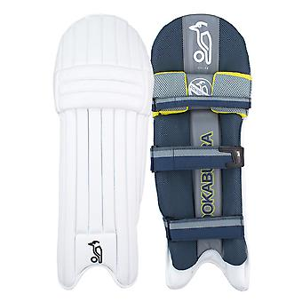 Kookaburra 2019 Nickel 2.0 Cricket Wimper Pads Leg Guards weiß/grau