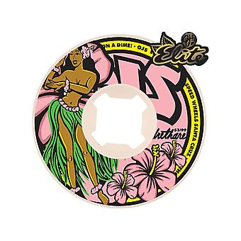 OJ Wheels Pink Hula 99A - 53mm Skateboard Wheels
