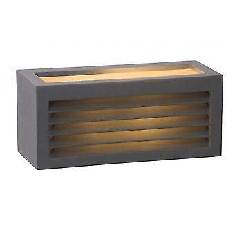Lucide Dimo Modern Rectangle Aluminum Anthracite Wall Light