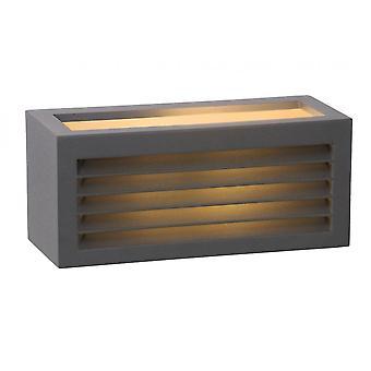 Luz da parede lucide Dimo moderno retangular alumínio antracite