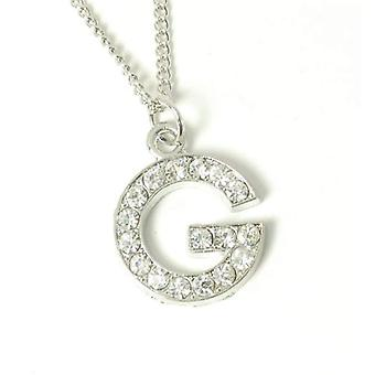 The Olivia Collection Silvertone Clear Acrylic Set Initial G Pendant, 18