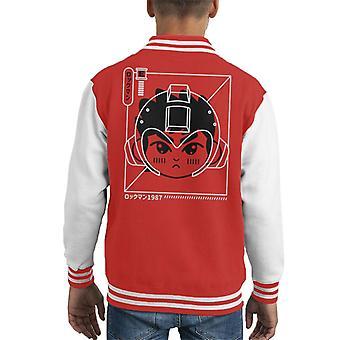 Cyber helm Rokkuman Mega Man Kid's Varsity Jacket