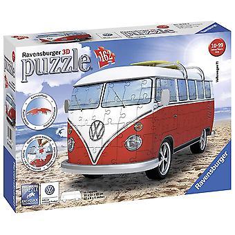 Ravensburger VW T1 Camper Van, rompecabezas 3D de 162pc