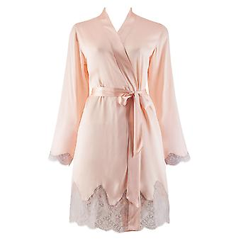 Aubade MS65 Women's Soie D'Amour Floral Silk Robe Loungewear Bath Dressing Gown