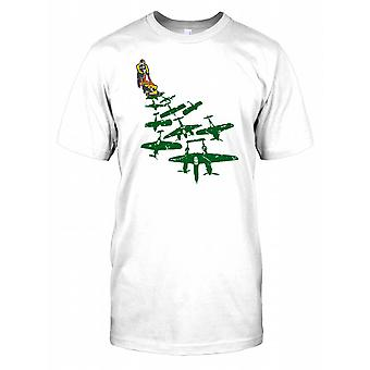 World War 2 Mowing Lawn - Lancaster Bombers - Spitfire Planes Kids T Shirt