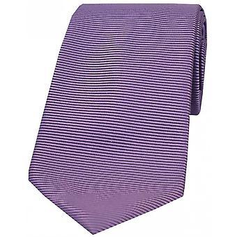 David Van Hagen Horizontal acanalada corbata poliéster - lila