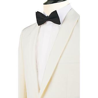 Dobell Mens bianco 2 pezzo Tuxedo Regular Fit con revers scialle sera cena vestito pantaloni neri