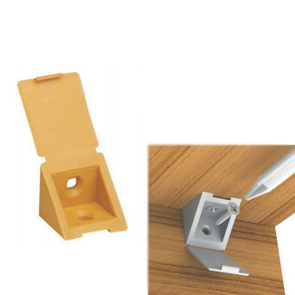 Corner Connecting Shelving Blocks Shelf Support Bracket Plastic Plinth Fixing