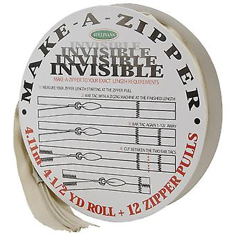 Make-A-Zipper Kit Invisible 4-1/2yd-Beige