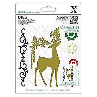 Xcut Dies Ornate Reindeer (8pcs) (XCU 503363)