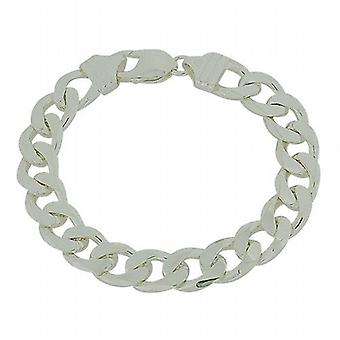 La Olivia Collection 32Gr Sterling Silver Gents 8inch Curb ouverte Bracelet