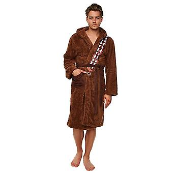 Star Wars Chewbacca Brown Fleece Dressing Gown With Printed Sash  - ONE SIZE