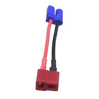 1 Piece EC2 Male Banana Connector to T Female Plug Wire Adapter for RC Lipo Battery