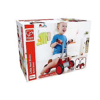 Hape-Little Red Rider en bois balance vélo-rouge