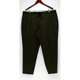 H by Halston Pants Pull-On Tapered Leg Jogger Pants Green A278980