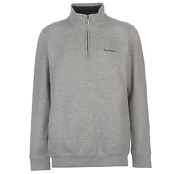 Pierre Cardin mens Quarter zip fleece jumper genser topp langermet