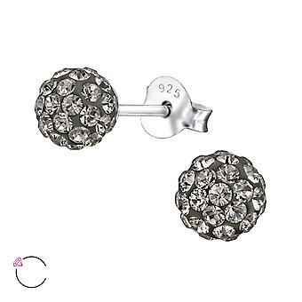 Ball crystal from Swarovski® - 925 Sterling Silver Ear Studs - W27747X