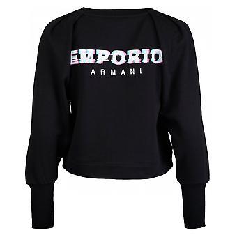 Emporio Armani met logo achteraan Mutton mouw Sweatshirt