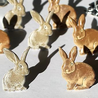 Eyelet Outlet Brads Rabbits Brown Qbrd 140A