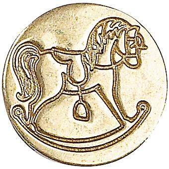 Decorative Seal Coin Rocking Horse 727Rck