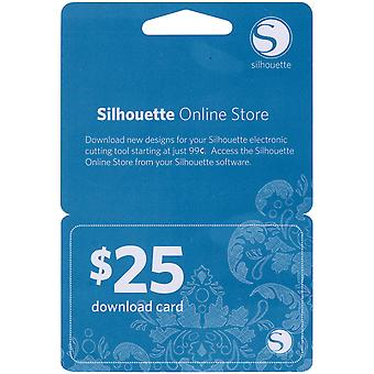Silhouette $25 Download Card 25Dnld