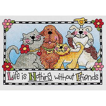 Life Is Nothing Without Friends Mini Stamped Cross Stitch Ki 7