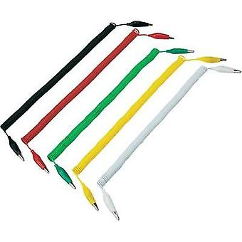 Test lead kit 3.2 m Black, Red, Yellow, Green, White VOLTCRAFT