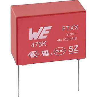 X2 suppression capacitor Radial lead 100 nF 310 Vac 10 % 15 mm (L x W x H) 18 x 6 x 12 mm Würth Elektronik 890334025017