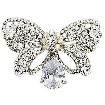 Butler and Wilson Crystal Bow Brooch