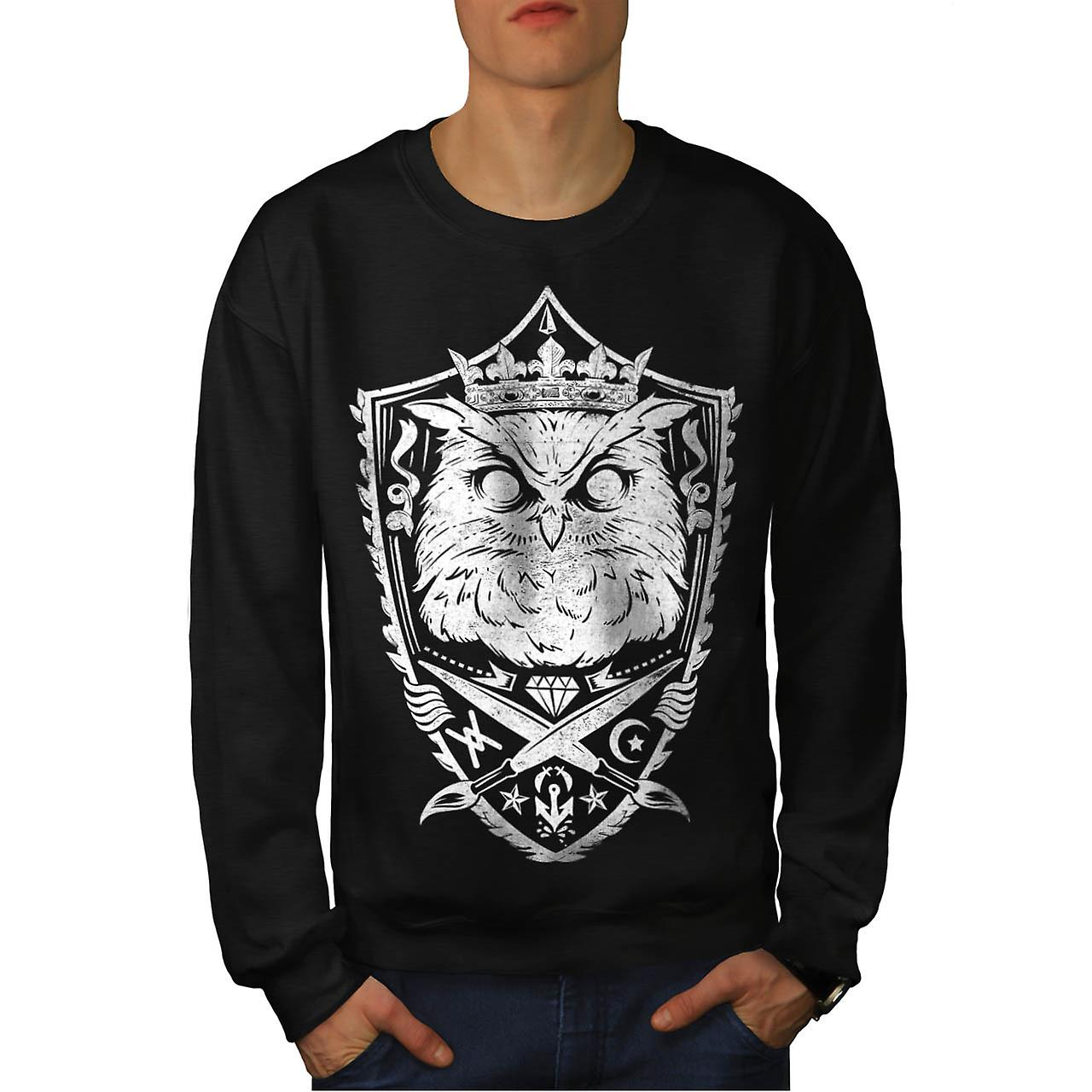 Danger Owl Kingdom Giant Bird Men Black Sweatshirt | Wellcoda