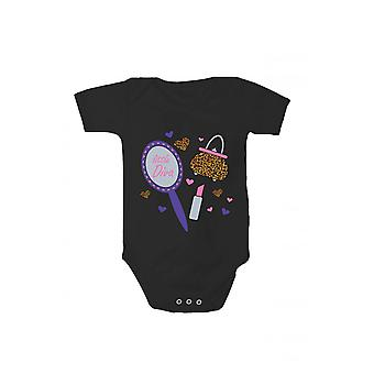 T-shirt with print baby Bodysuit little diva in different languages