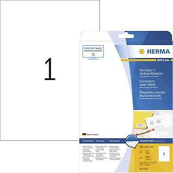 Herma 4230 Labels (A4) 210 x 297 mm Paper White 25 pc(s) Permanent Correction labels, Patches Inkjet, Laser, Copier