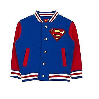 Children's Boys Superman Baseball Varsity Jacket