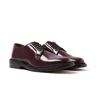 Bass Monogram Wine Leather Derby Shoes
