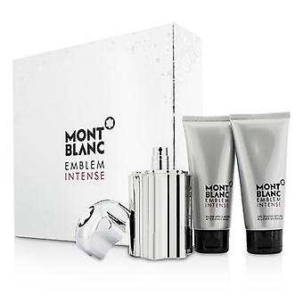 Montblanc Emblem intensive Coffret: Eau De Toilette Spray 100ml / 3.3 oz + Shower Gel 100 ml / 3.3 oz + After Shave Balm 100 ml / 3.3 oz 3st