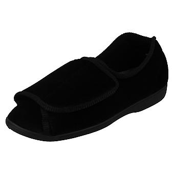 Ladies Tender Tootsies Velcro Cross Over Slipper Boots Style 204999