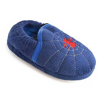 SlumberzzZ Kids Novelty Spider & Owl Designs Warm Microsuede Classic Slipper