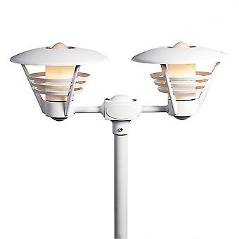 Konstsmide Gemini Twin Post Light Matt White