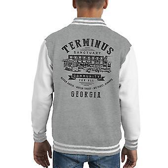 Terminus Sanctuary Community Walking Dead Dark Kid's Varsity Jacket