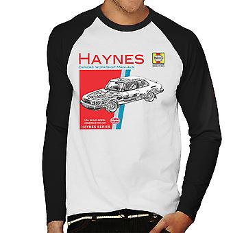 Haynes Besitzer Workshop manuelle 0765 Saab 900 Turbo Herren Baseball T-Shirt Langarm