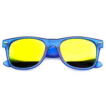 Bright Color Frosted Color Mirror Lens Horn Rimmed Sunglasses