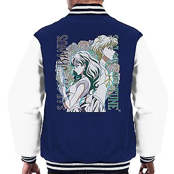 Sailor Uranus Neptune Crystal Outer Senshi Cry Moon Men's Varsity Jacket