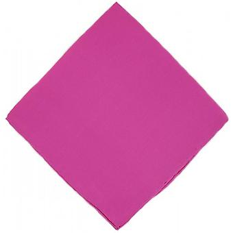 Michelsons of London Plain Silk Handkerchief - Fuchsia Pink