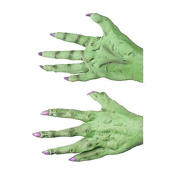Handskar latexhandskar gröna monster/häxa