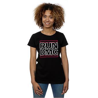Run DMC Women's Neon Logo T-Shirt