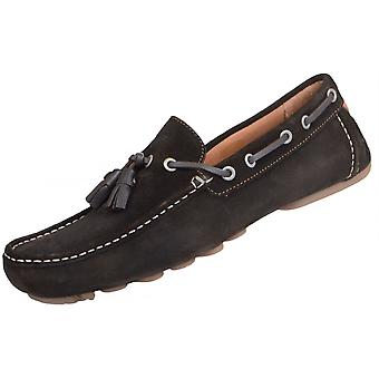 Armani Jeans 06593 Suede Tassel Brown Loafers