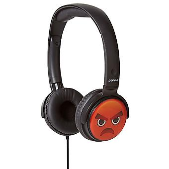 Groov-e EarMOJI Kids Headphones 1.2M cord Angry Face (Model No. GVEMJ16)
